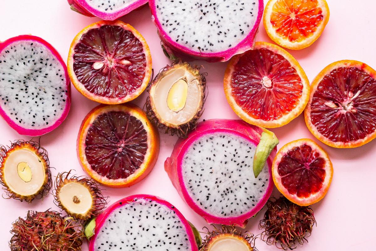 Pithaya neboli dračí ovoce a rambutan