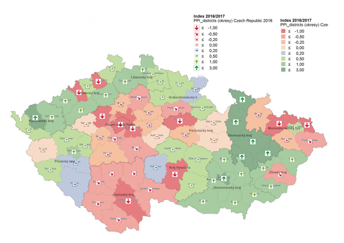 Mapa kupní síly v Česku za letošní rok Zdroj: GfK