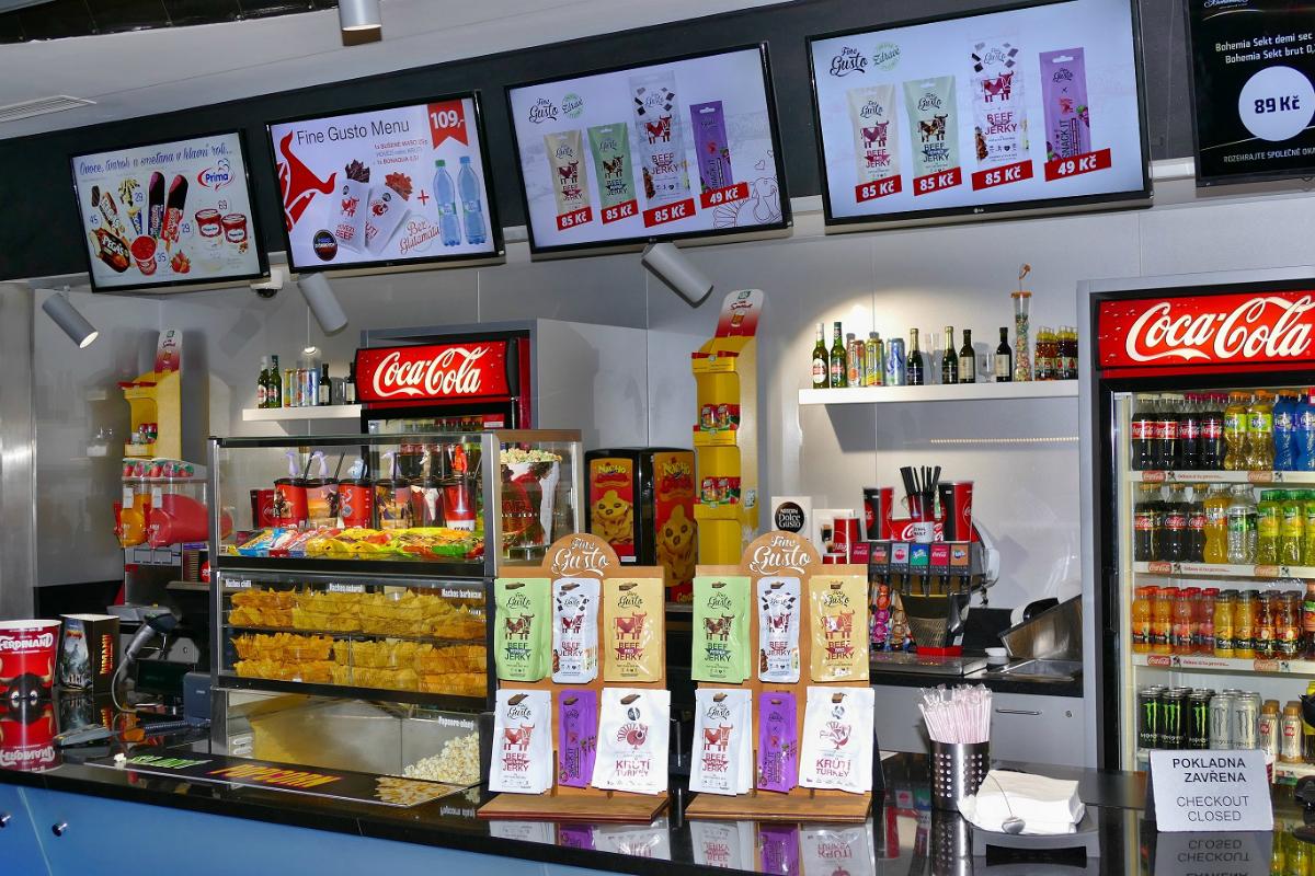 Sušené maso Fine Gusto je k dostání na barech s občerstvením v multikinech Cinestar