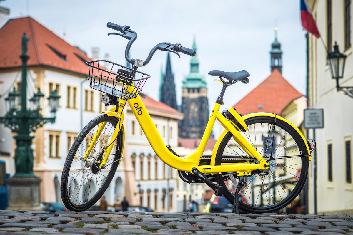Kolo bikesharingové služby Ofo