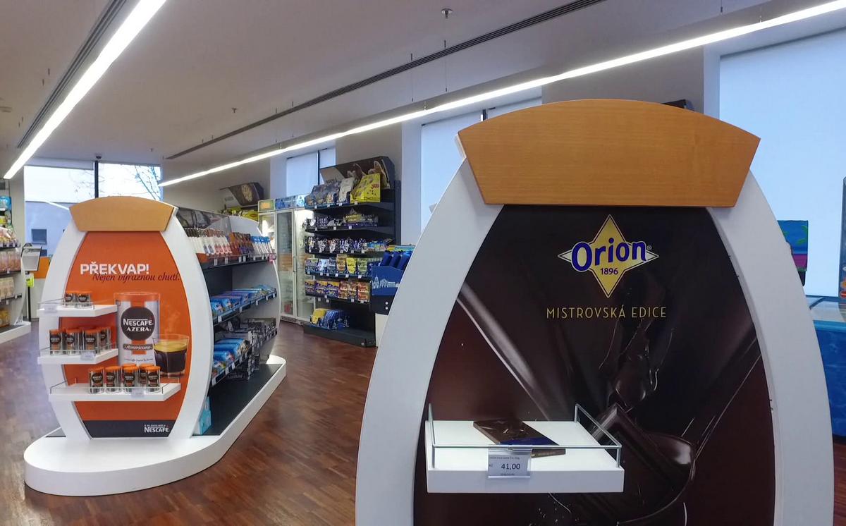 Redesignovaná prodejna Nestlé