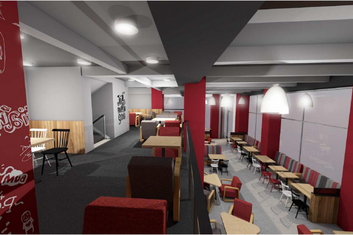 Vizualizace nejnovější pobočky CrossCafe v Ostravě