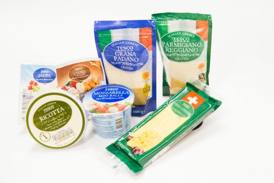 Tesco přidává dvě stovky mléčných produktů privátní značky