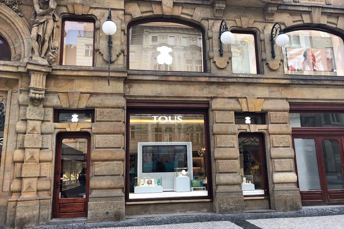 Nový obchod Tous v Praze Na Příkopě