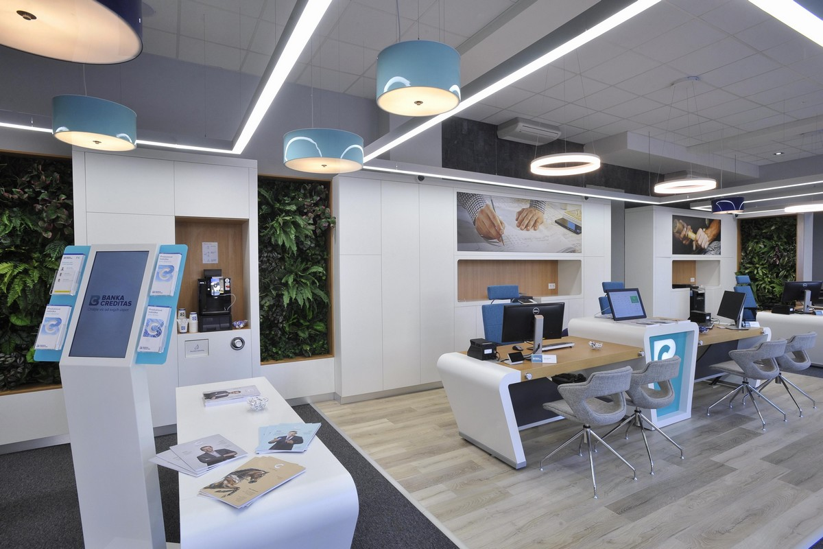 Nové prostory banky Creditas v Hradci Králové