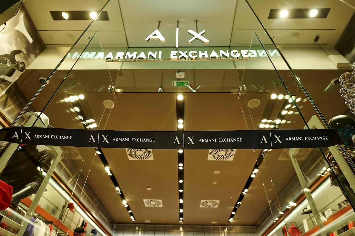 Nová prodejna Armani Exchange v pražském Palladiu
