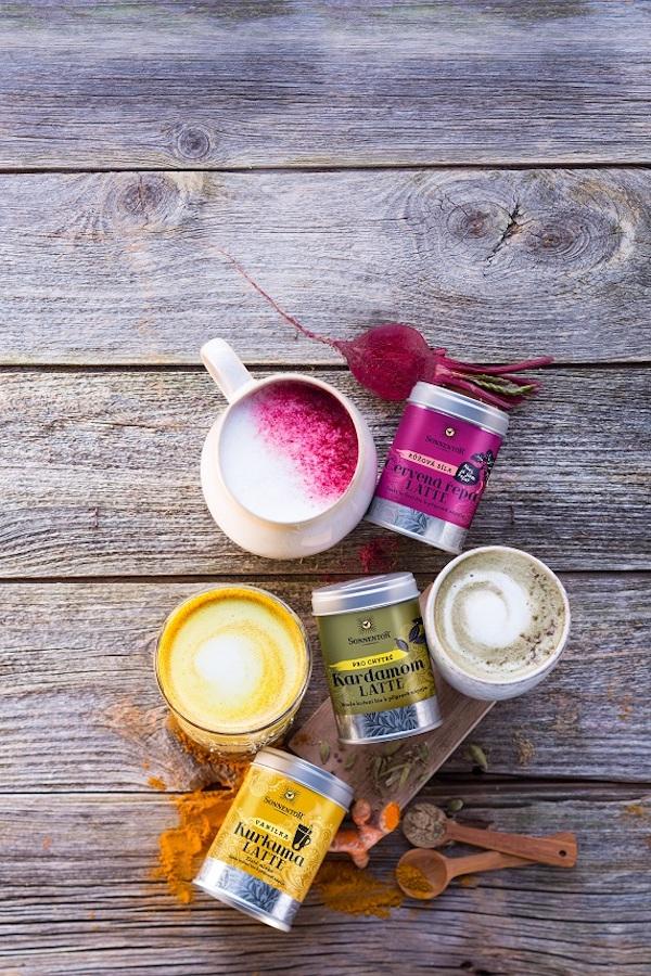 Nové čajové směsi pro přípravu latte nápojů