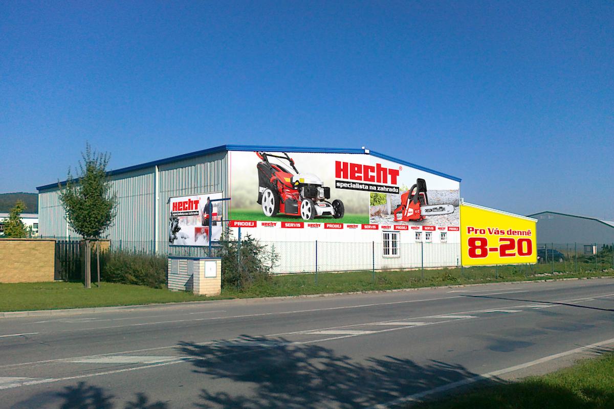Nová prodejna Hecht v Letech u Prahy