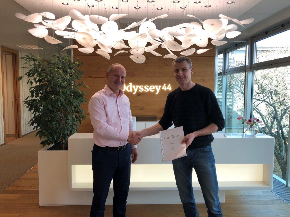 Zleva Pavel Řehák, předseda představenstva Vigo Investments a Martin Kúšik, akcionář Odyssey 44