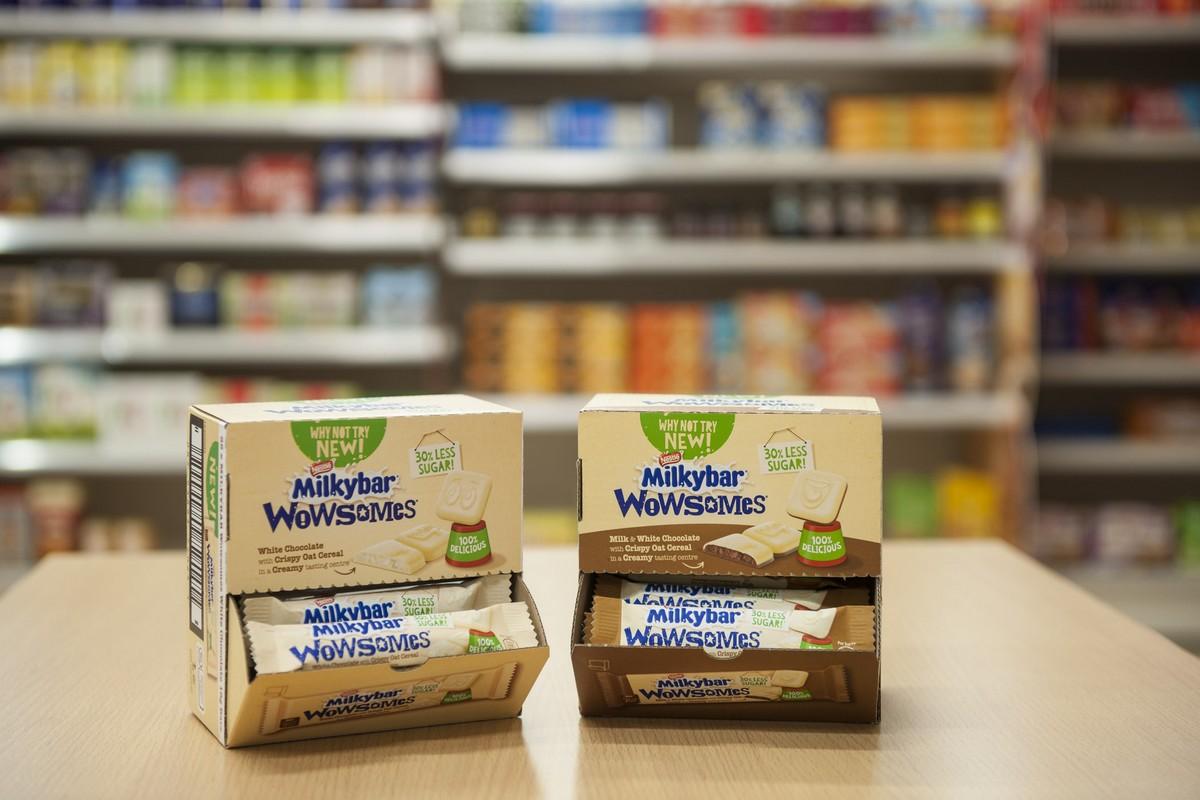 Tyčinky Milkybar Wowsomes s novou formou cukru
