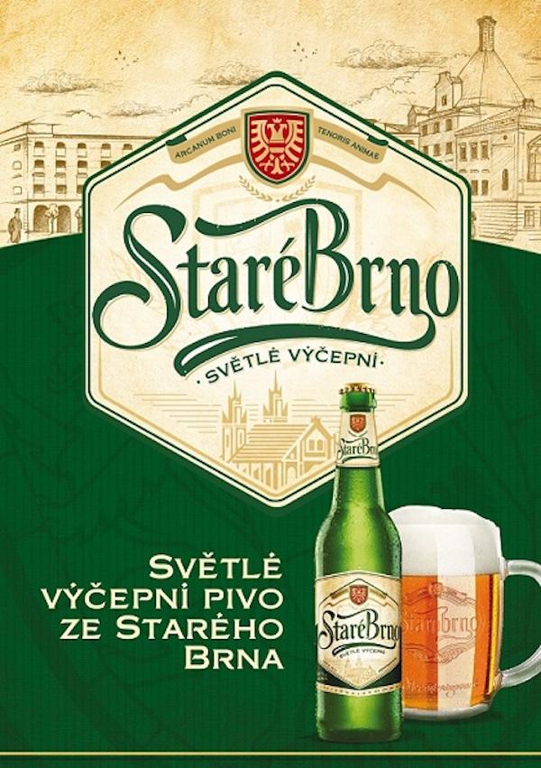 Nové světlé výčepní pivo Staré Brno od Starobrna
