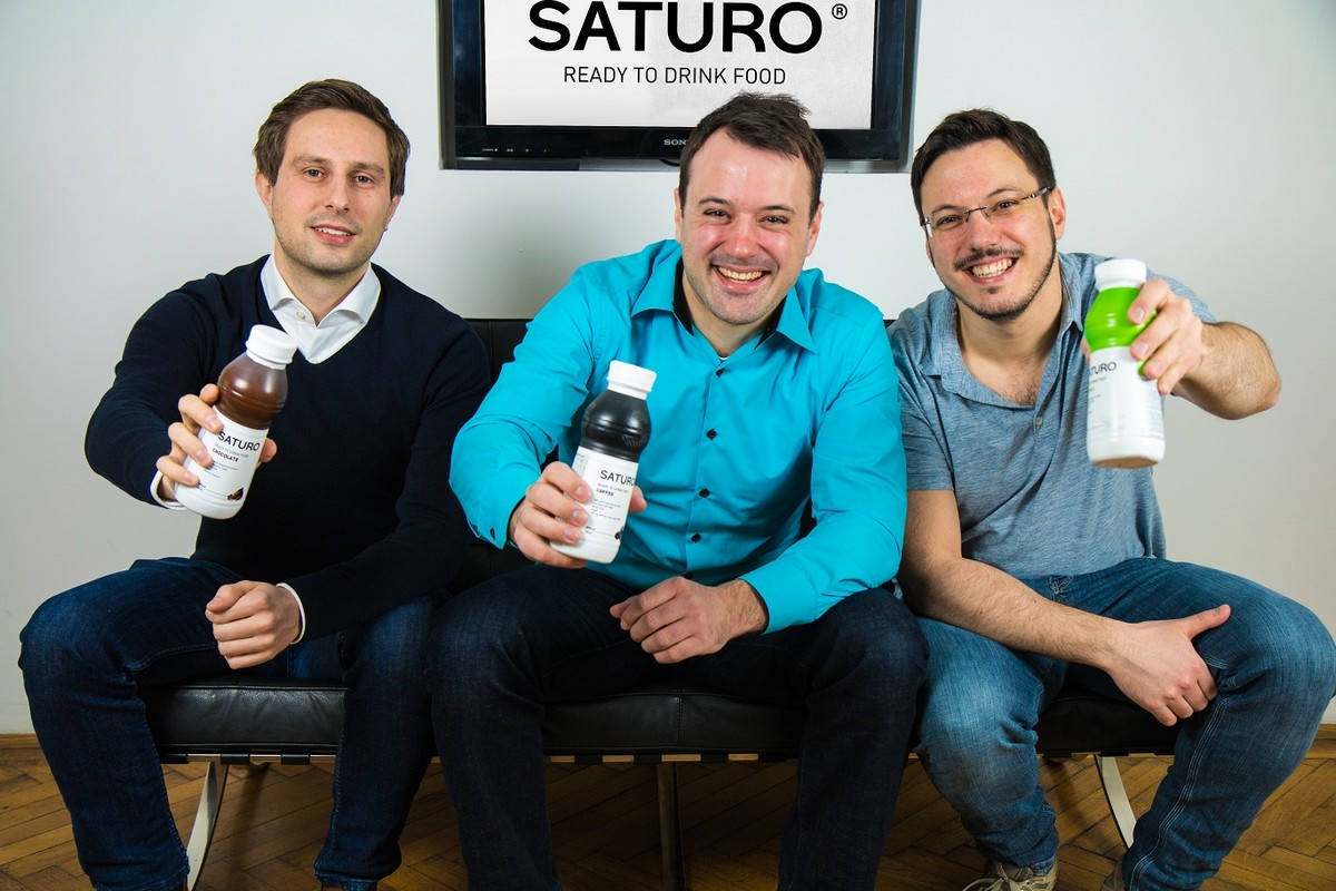 Zleva Joerg Hauke, finanční ředitel Saturo, Hannes Feistenauer, ředitel Saturo a Armin Feistenauer, technický ředitel Saturo