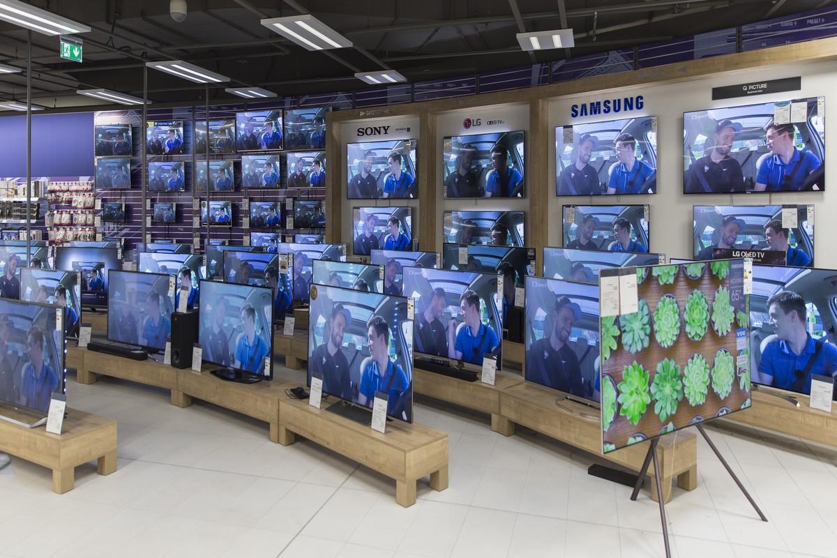 Nový způsob vystavování televizí