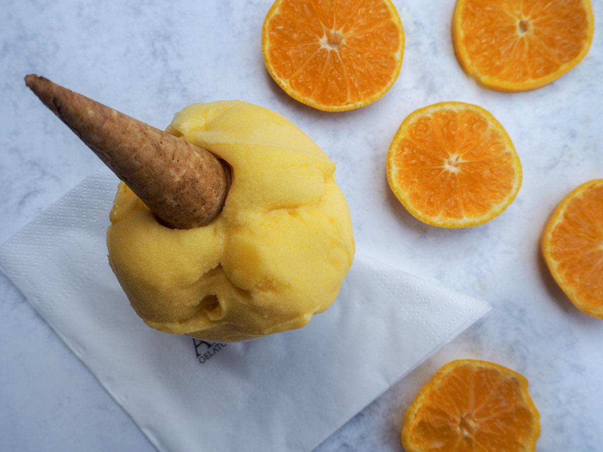 Letní speciál, mandarinkový sorbet