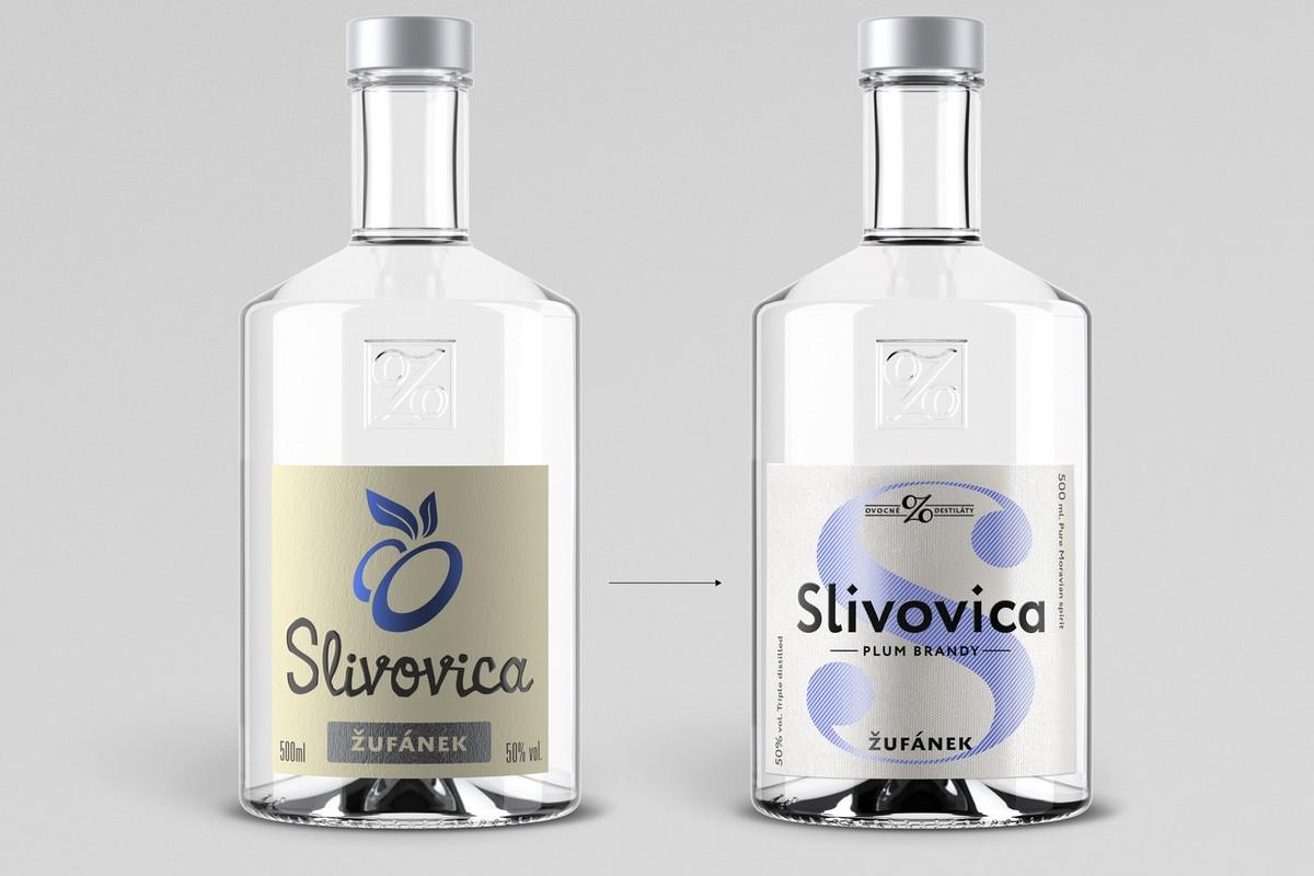 Zleva design před redesignem, vpravo v nové podobě