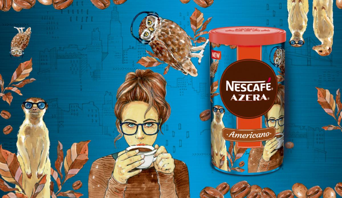 Nescafé Azera 2018: Taste of the city, návrh Tiny Minorové pro Slovensko