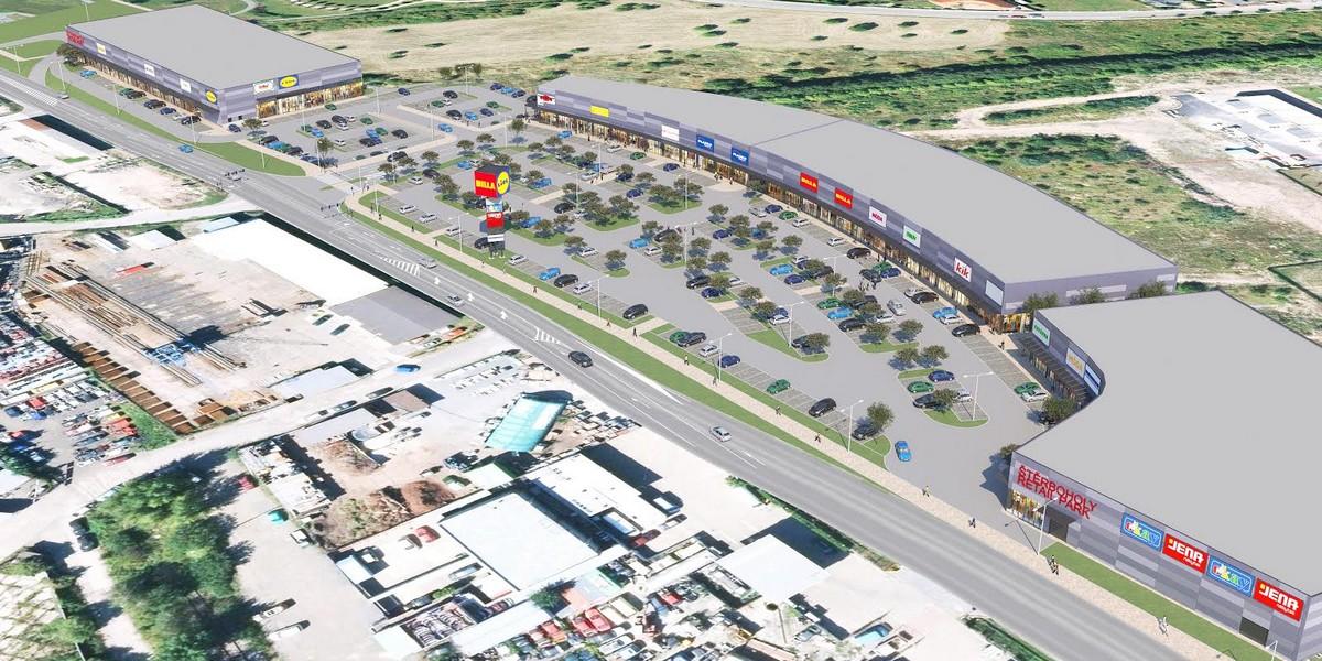 Vizualizace projektu retail parku