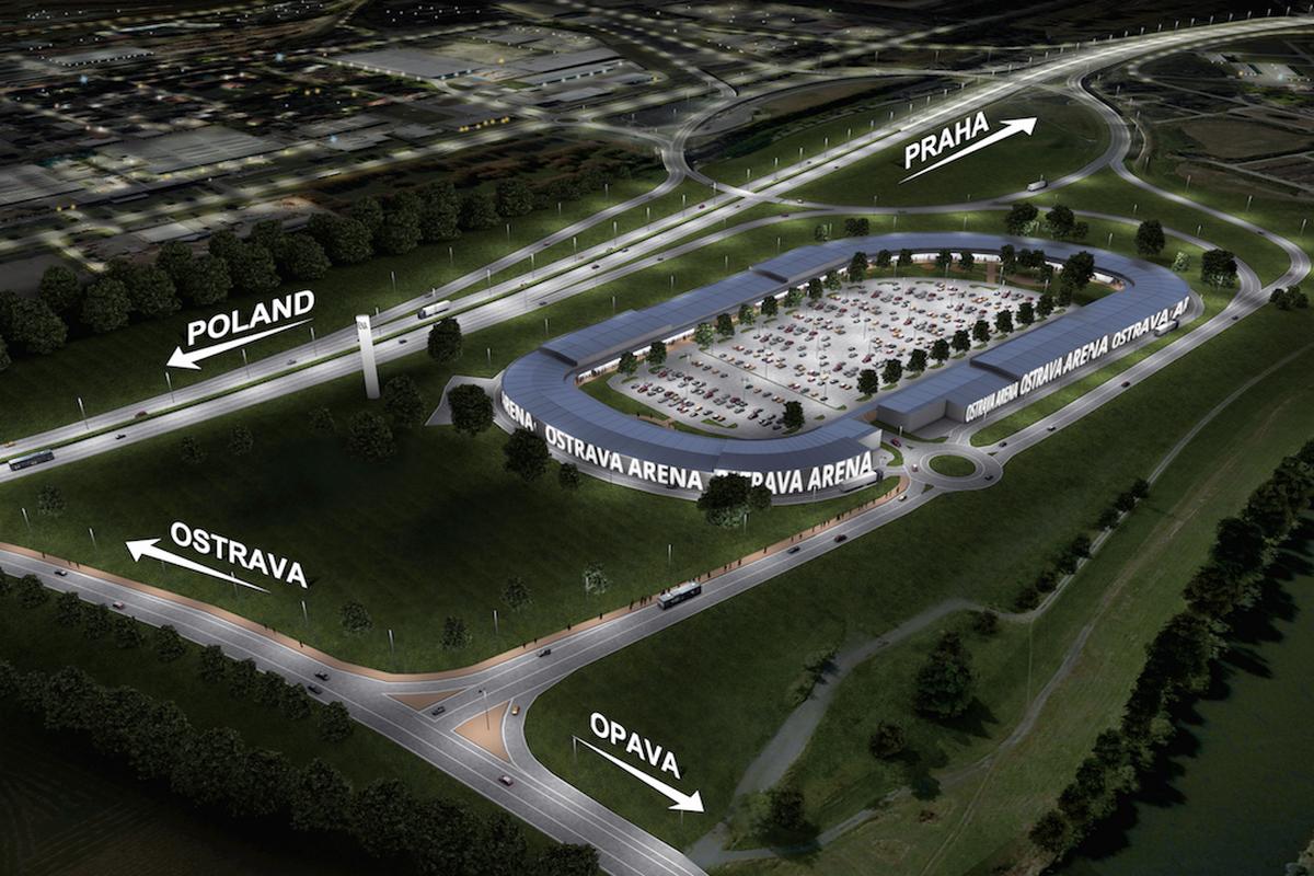 Vizualizace podoby Ostrava Outlet Arena