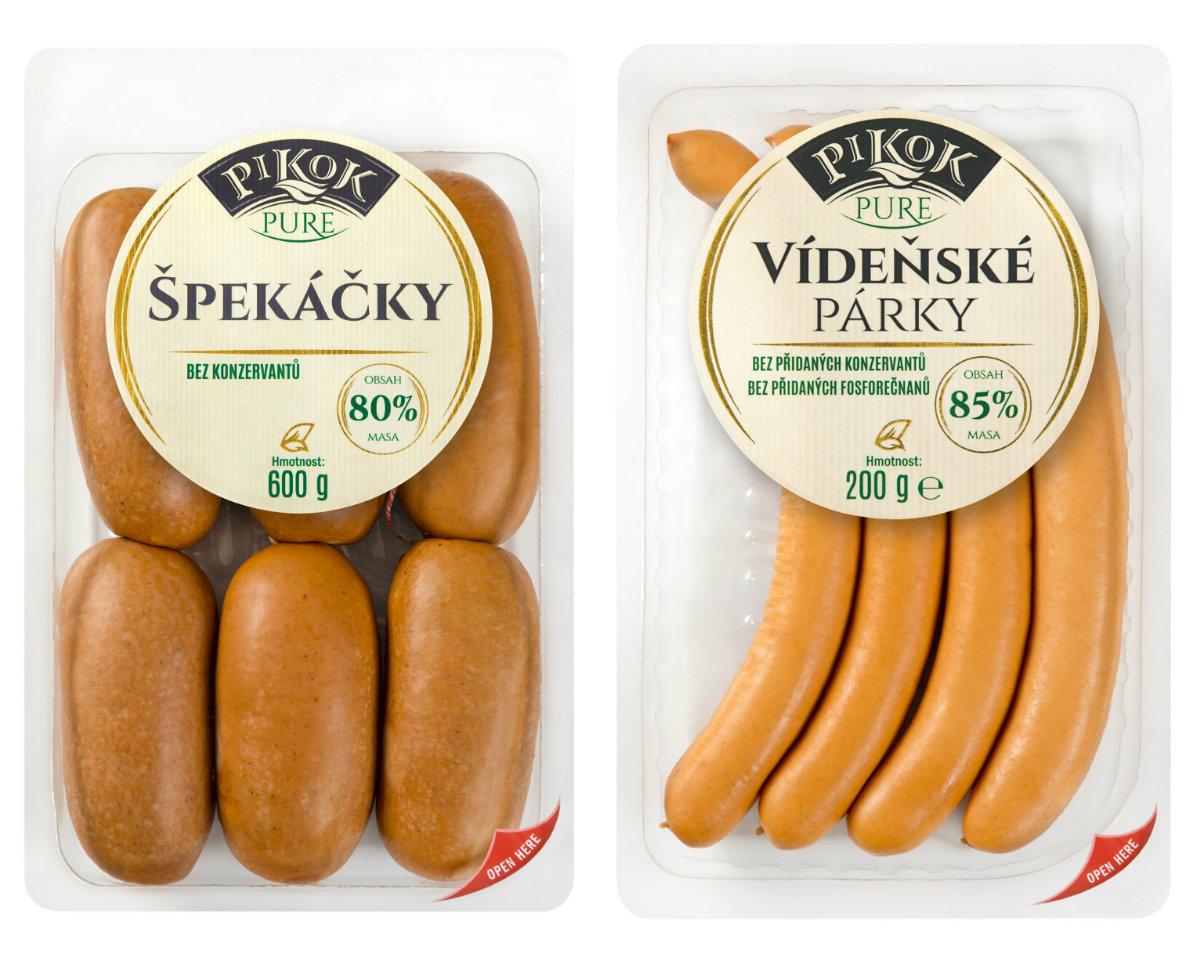 Nová řada masných výrobků Pikok Pure