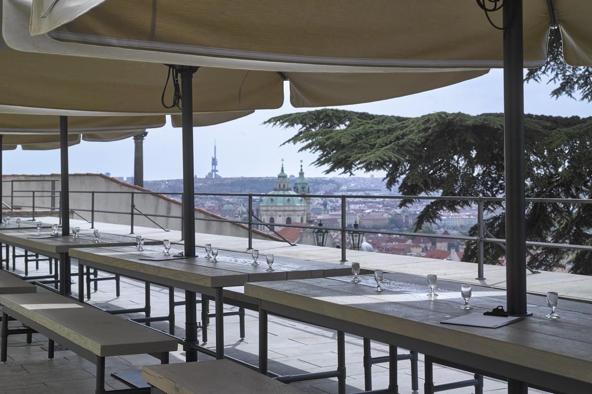 Výhled z nové restaurace Kuchyně